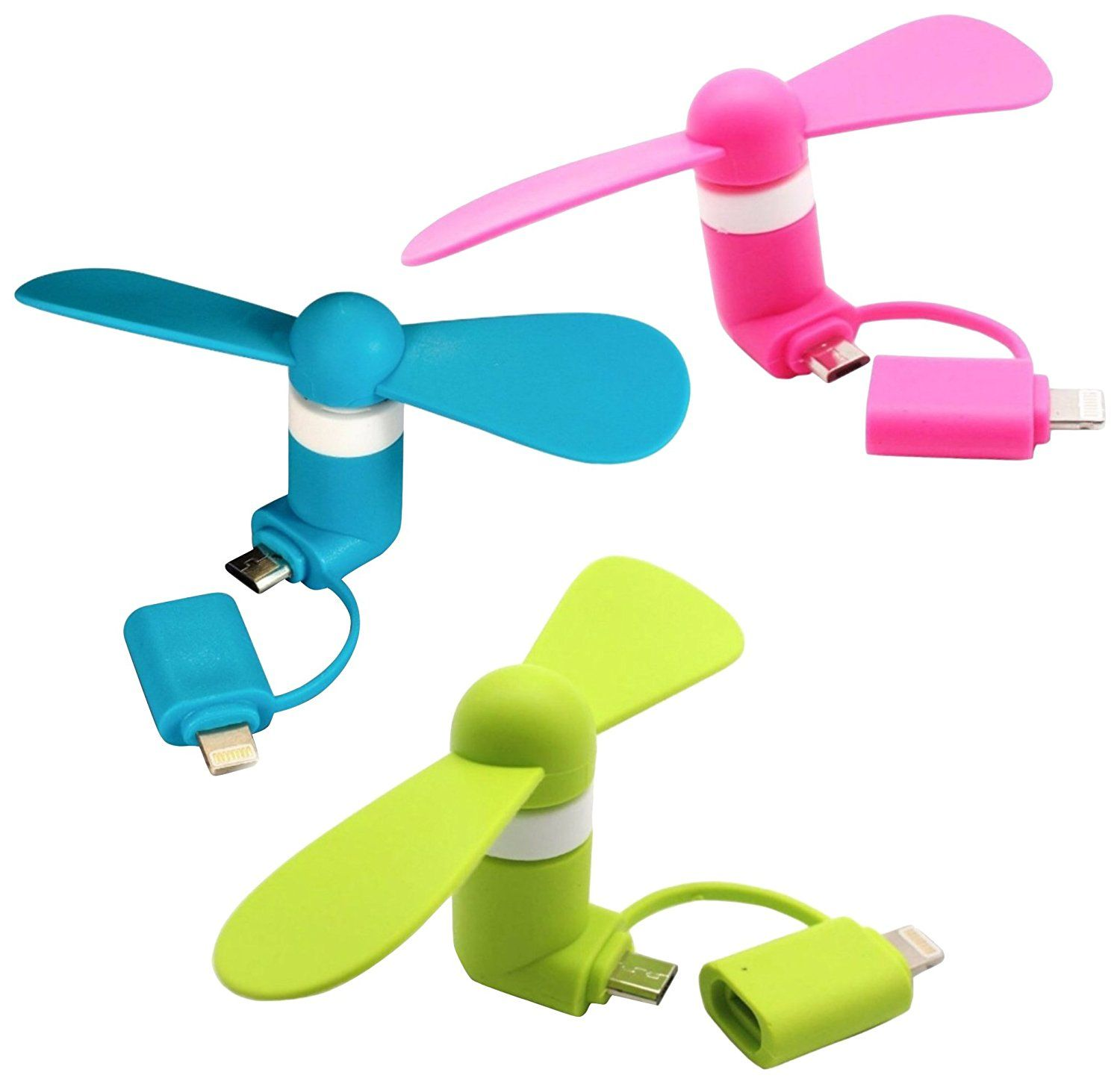 P46 Digital Mini Fan 2-in-1 Mini for iPhoneiPad and Android