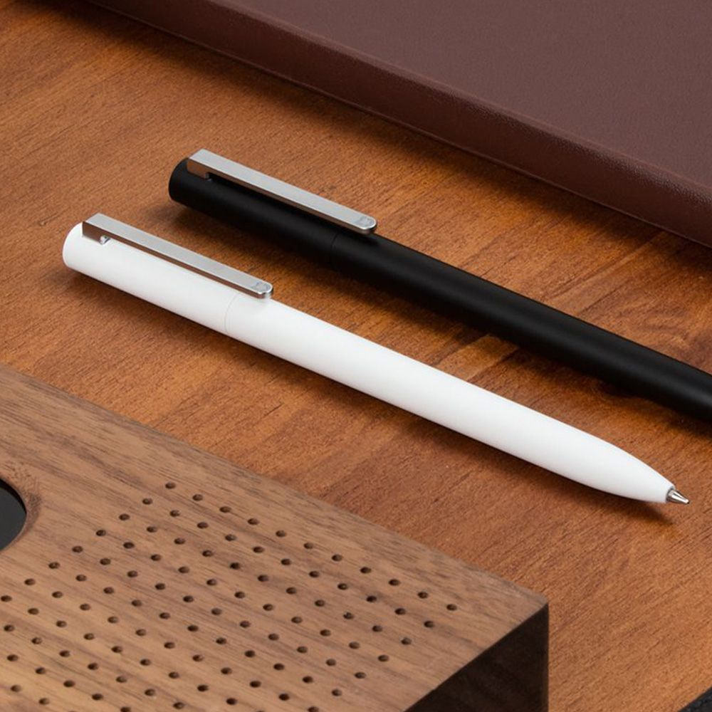 Xiaomi Mijia 0.5mm White Signature Pen - PREMEC Switzerland refill, Japan imported ink, 0.95mm comfortable grip,120 degrees rotation