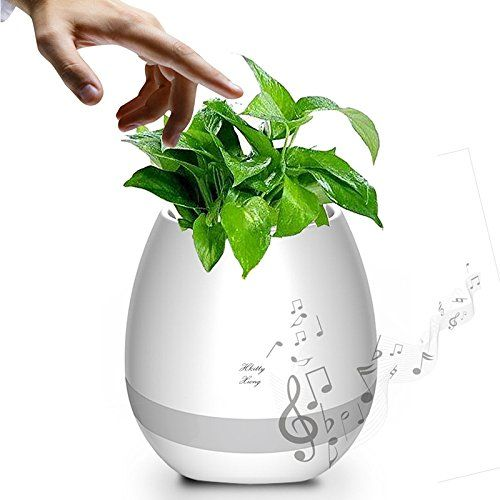 TOKQI K3 4-in-1 Smart Music Flowerpot - Bluetooth Speaker/ LED Night Light/Waterproof Plant Pot/Play Music on Plant