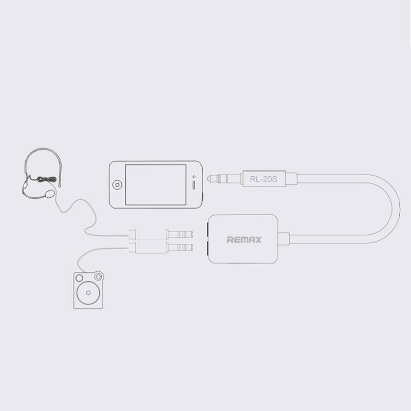 3.5 mm Audio Splitter Cable (White) - One 3.5mm male plug to Two 3.5mm female jacks