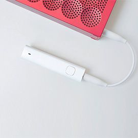 Xiaomi Bluetooth Audio Receiver (White) Bluetooth Audio Adapter for Headphones with Clip-on Design