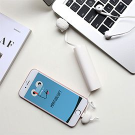 Charble 2 in 1 Charging Cable and Power Bank for iPhone a charging cable integrated with a 1000mAh backup battery for your iPhone