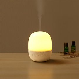 Emoi 3-in-1 Smart Aroma Diffuser Lamp Speaker - Patent Essential Oil Aroma Diffuser with Music, 7-Color LED Changing Mood Lighting, 1-3 Hour Timer Setting, APP Control for Home and Office