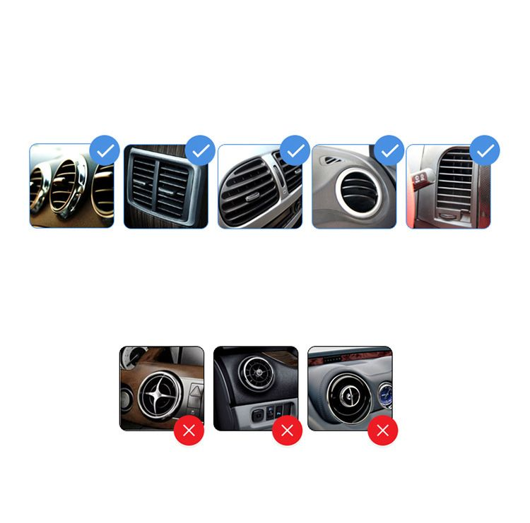 AutoBot Universal Car Air Vent Mount Phone Holder - Adjustable Bracket Stand Fit for Most Smartphones