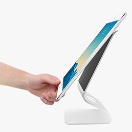 iQunix Zand iPad/Tablet PC Stand (Silver) Nano Micro Suction Technology