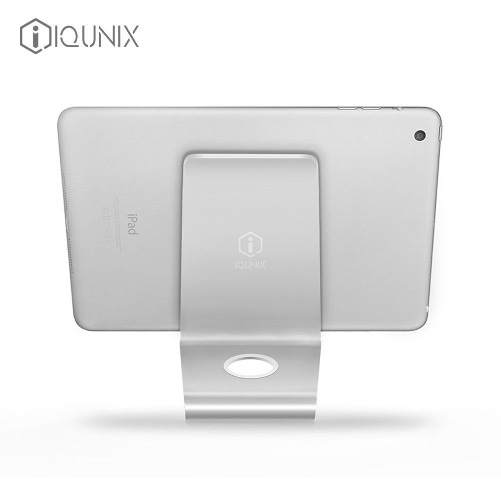iQunix Zand iPad/Tablet PC Stand (Silver) - Nano Micro Suction Technology
