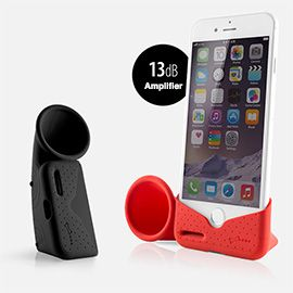 Portable Silicone Horn Stand & Sound Amplifier for iPhone 7/7 Plus - Phone Stand and Horn Amplifier that increases 17% sound to your iPhone