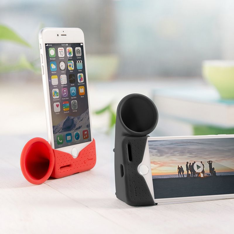 Portable Silicone Horn Stand & Sound Amplifier for iPhone 7/7 Plus