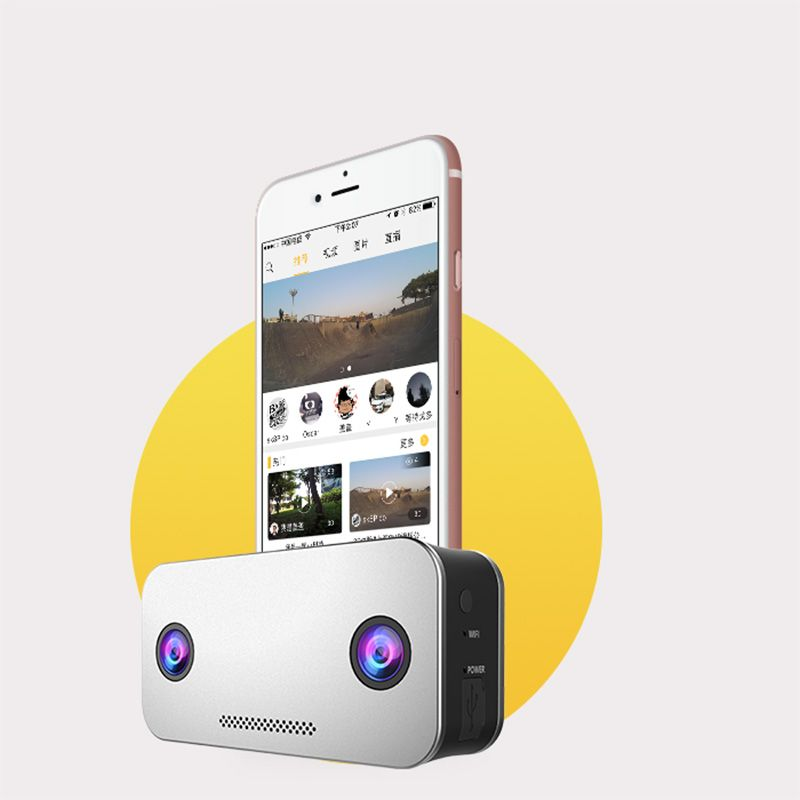Camdora 4K 3D VR Sports Camera - The professional-grade VR camera to deliver 4K and 3D videos, live streaming and instant sharing.