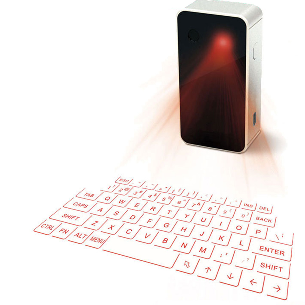 GEECR Bluetooth Projection Keyboard - Mini Laser Projection Virtual Keyboard for iPhone iPad Smartphone Tablet PC and Laptop