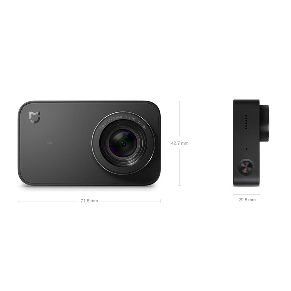 Xiaomi Mijia 4K Action Camera - 2.4-inch Touch Display with 6-Axis Stabilisation Launched and 1450mAh High-capacity Battery