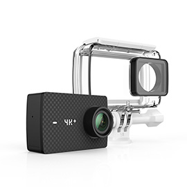 YI 4K+ Action Camera with Waterproof Case The world's first 4K/60fps Action Camera Plus Voice Control, Live Streaming, and 12MP RAW image (Black)