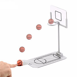 GEECR Mini Tabletop Basketball Game Toy - Portable Basketball Game Anxiety Relief Toy for Travel or Office