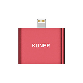 KUNER Kucable 2 in 1 Lightning Adapter with Charging and Audio(Metal Wireless) iPhone 7 charge and listen to music, Two lightning input ports.