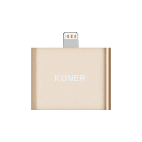 KUNER Kucable 2 in 1 Lightning Adapter with Charging and Audio(Metal Wireless)