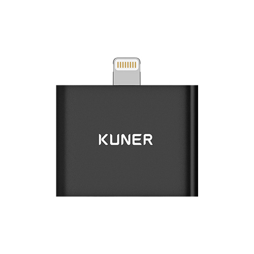 KUNER Kucable 2 in 1 Lightning Adapter with Charging and Audio(Metal Wireless) - iPhone 7 charge and listen to music, Two lightning input ports.