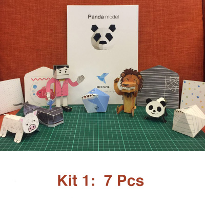 Japan Nakamura Paper Toys Kit - Origami Paper Toys that Walk, Jump, Spin, Tumble and Amaze!