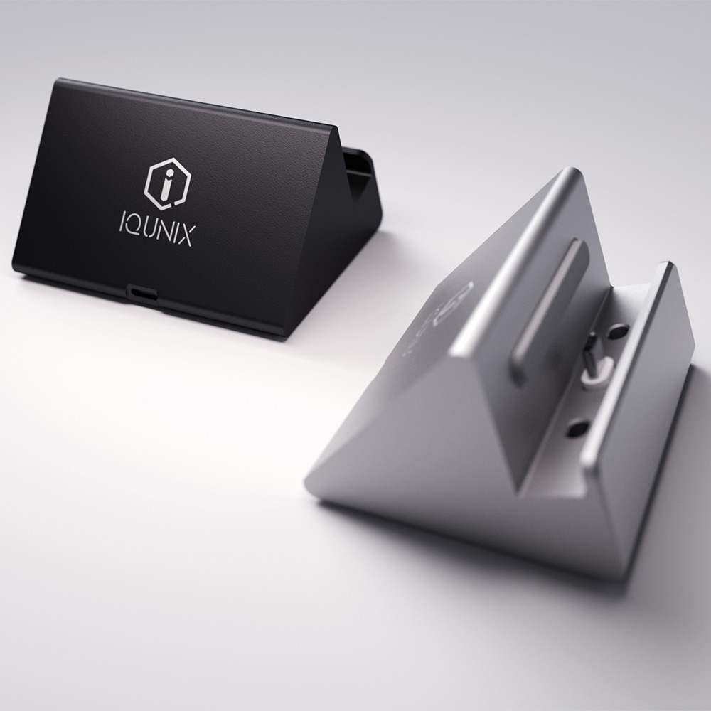 iQunix Hima Type-C Charge Dock - Wireless Fast Charging Station for Android Phone and Type-C Enabled Devices