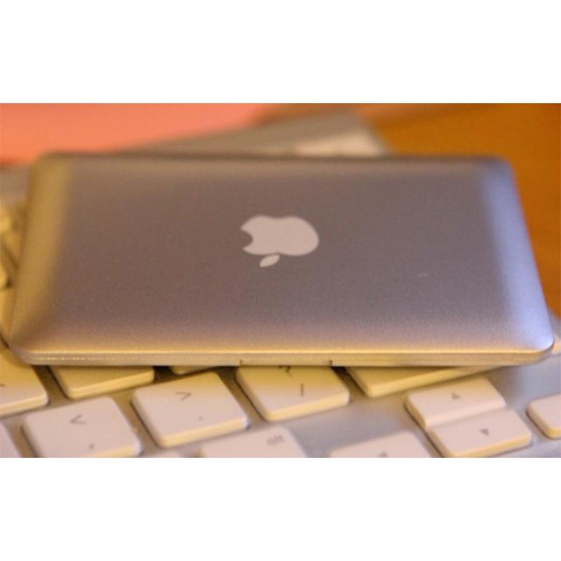 Mini MacBook Air Style Portable Makeup Mirror(Silver)