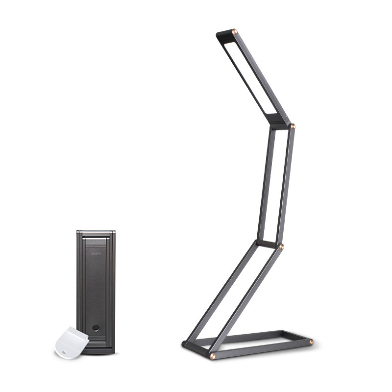 U-DOT 360° Foldable LED Desk Lamp - Dimmable LED Lamp with 2 Brightness Levels, 360° Foldable Design, Aluminum Alloy Rechargeable Lamp for Bedroom, Office, Camping