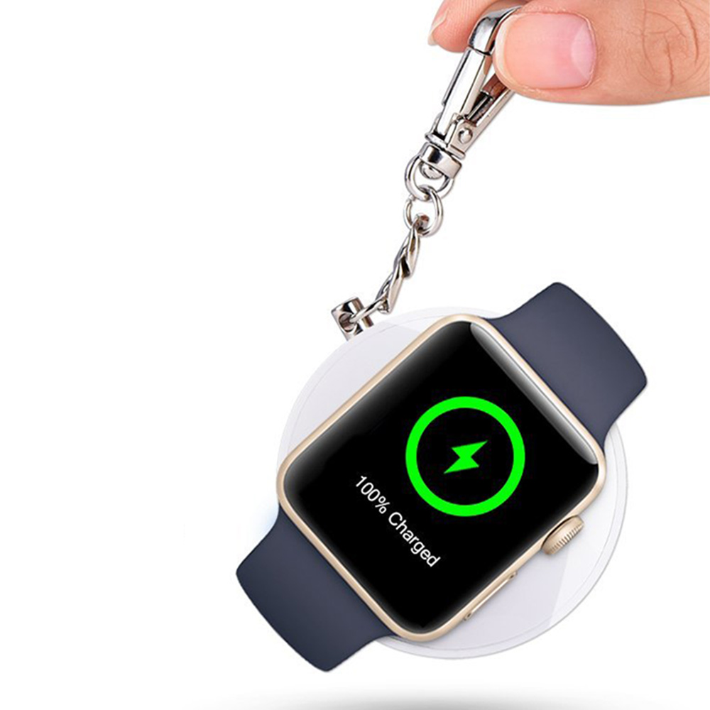 [Apple MFI Certified] CHOETECH Apple Watch Portable Charger - 900mAh Power Bank with Keychain for 38mm/42mm Apple Watch
