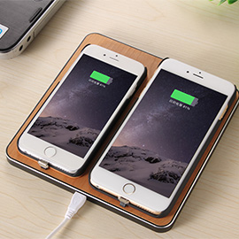 KOO-POWER	Wireless Charging Pad - Supports wireless charge for two Qi-enabled devices simultaneously