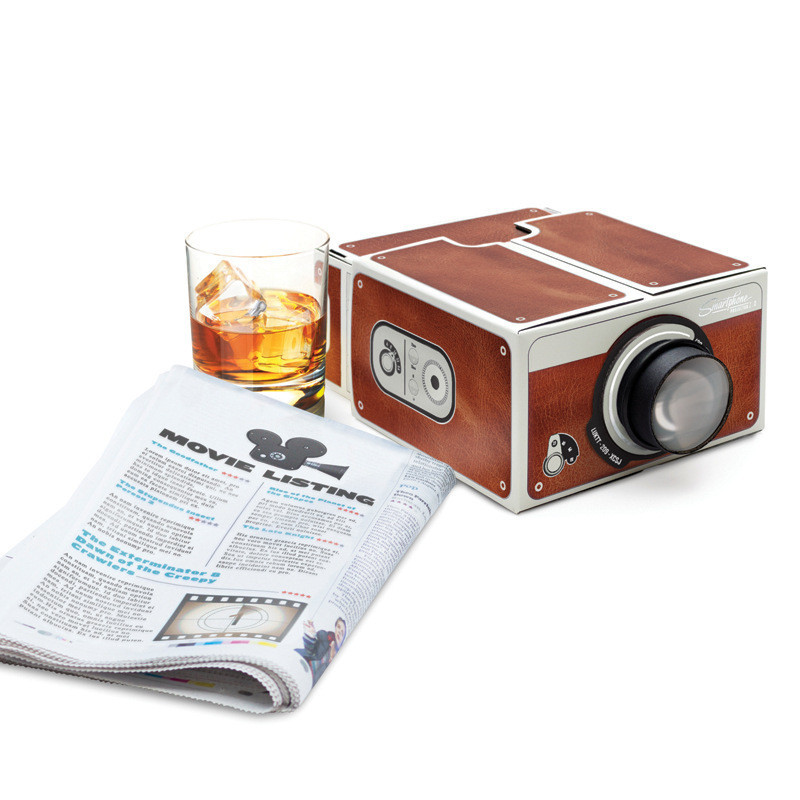 DIY Cardboard Projector Home Theater Cardboard Mobile Phone Projector
