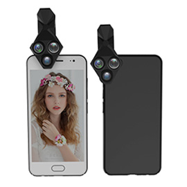 LCOSE 3 in 1 Cell Phone Camera Lens - Fisheye lens/Wide Angle lens/Macro lens For Most Smartphone, Tablet