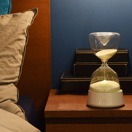 Hourglass Night Light - 4 Colors Beside Sleeping Touch Sensor Table Lamp