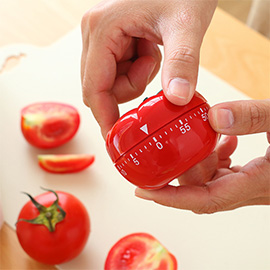 60 Minutes Pomodoro Timer - Tomato-shaped work timer for Pomodoro time management program