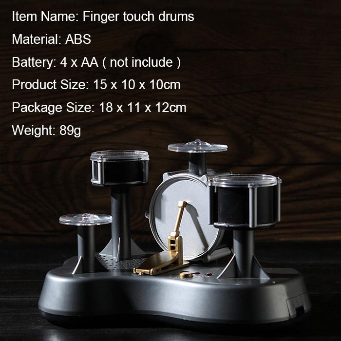 Electronic Drum Play Set Mini Plastic Finger Drum