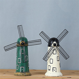Vintage Retro Windmill Desk Decorations - Ideal for Photo Props/Christmas Gift/Home Decor/Ornament/Souvenir/Bars Decoration