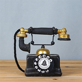 Vintage Retro Telephone Desk Decorations(Gold) - Ideal for Photo Props/Christmas Gift/Home Decor/Ornament/Souvenir/Bars Decoration
