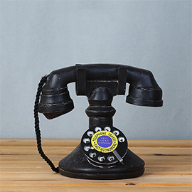 Vintage Retro Telephone Desk Decorations(Black) - Ideal for Photo Props/Christmas Gift/Home Decor/Ornament/Souvenir/Bars Decoration