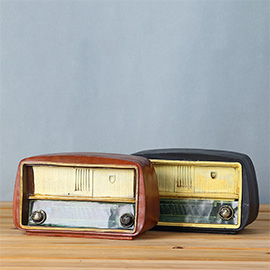 Vintage Retro Radio Desk Decorations - Ideal for Photo Props/Christmas Gift/Home Decor/Ornament/Souvenir/Bars Decoration