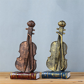 Vintage Retro Violin Desk Decorations - Ideal for Photo Props/Christmas Gift/Home Decor/Ornament/Souvenir/Bars Decoration
