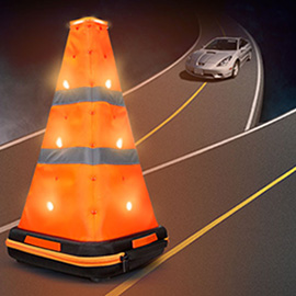 PEADEA Versatile LED Road Warning Triangle - A must-have folding warning triangle in the boot for emergency use