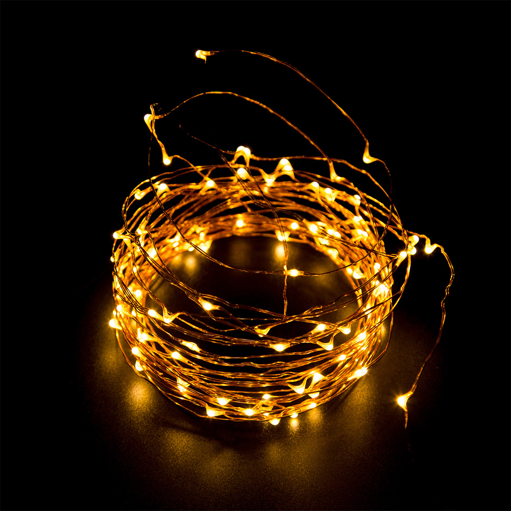 GEECR 33ft 100 LED String Lights( Warm Yellow/Colorful Light) - Dimmable lights with remote control, Waterproof decorative lights for indoor bedroom, outdoor patio, parties, garden and holidays or special events
