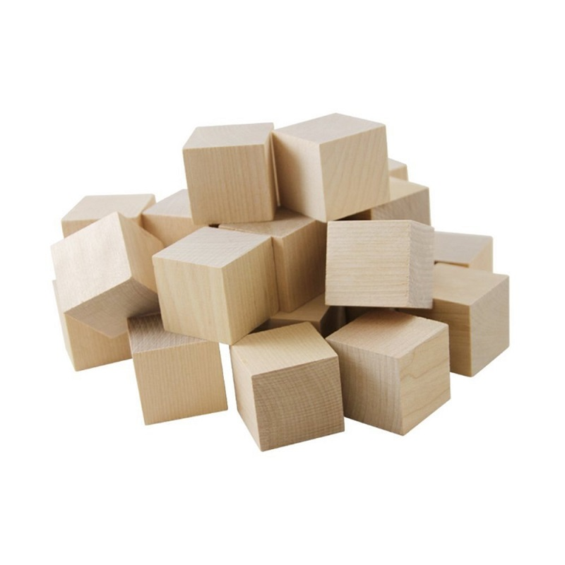 Wooden Cubes for Making DIY Infinity Photo Cube - 2cm (0.79inch)