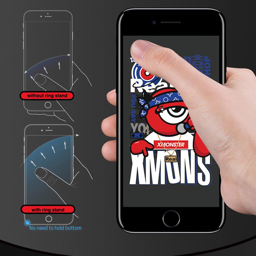 EMIE XMONSTER Phone Ring Holder Spinner - 360°Rotation Finger Spinner Finger Ring Stand Holder with Great Finger Grip for iPhone 7/ 7Plus 6/ 6s Plus