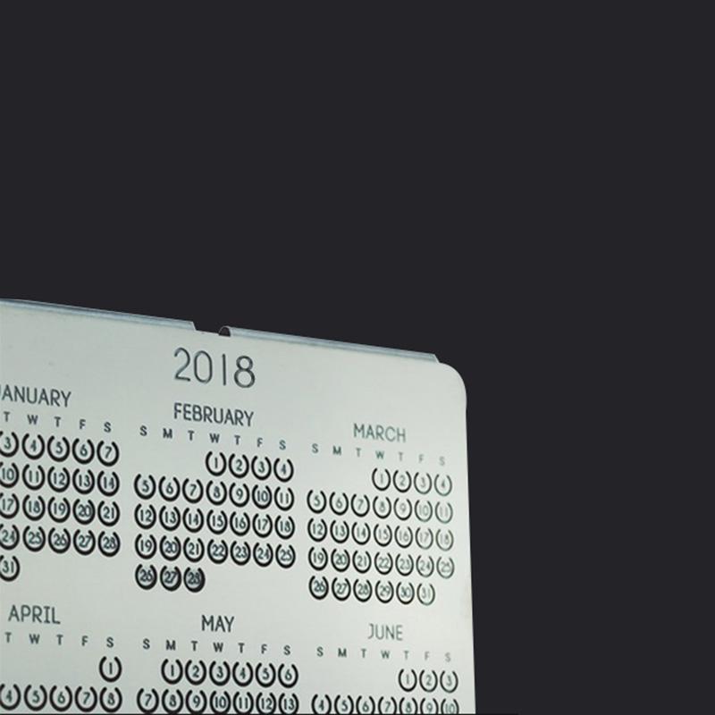 Creative Metal Calendar