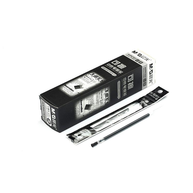 M&G Hot Clean Erasable Gel Ink Refills(20 Total) - 0.5mm, Box of 20, Black/Blue, Bullet Tip, Made for Elfin Book 2.0