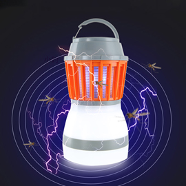 OPSEE Solar Mosquito Zapper Solar & USB Powered, Works Up to 28 Hours,  LED Lantern for Camping
