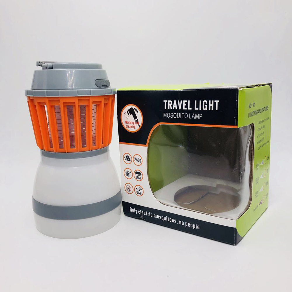 OPSEE Solar Mosquito Zapper - Solar & USB Powered, Works Up to 28 Hours,  LED Lantern for Camping