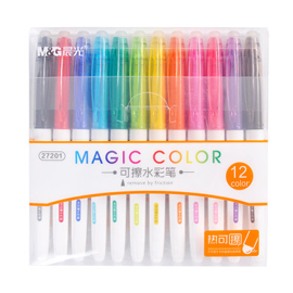 M&G Colors Erasable Marker 12 Assorted Colors, 6-Pack/12-Pack, For Drawing, Marking or Kids Doodle