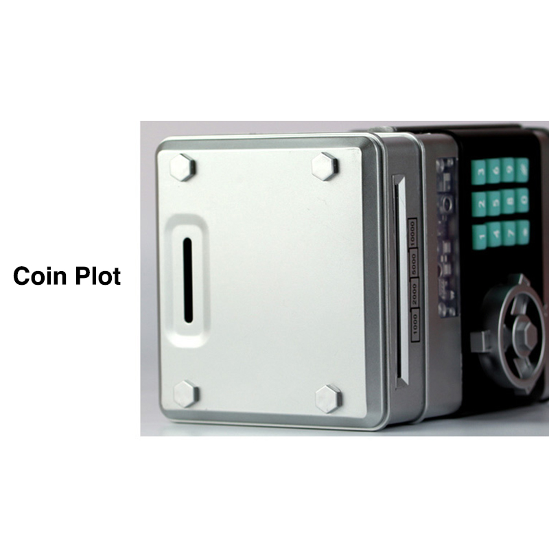 Locking Piggy Banks Cash Coin Can