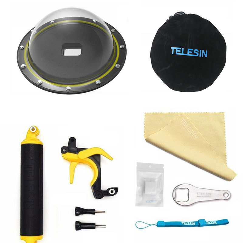 TELESIN 6''Dome Port for GoPro Hero 6 Hero 5