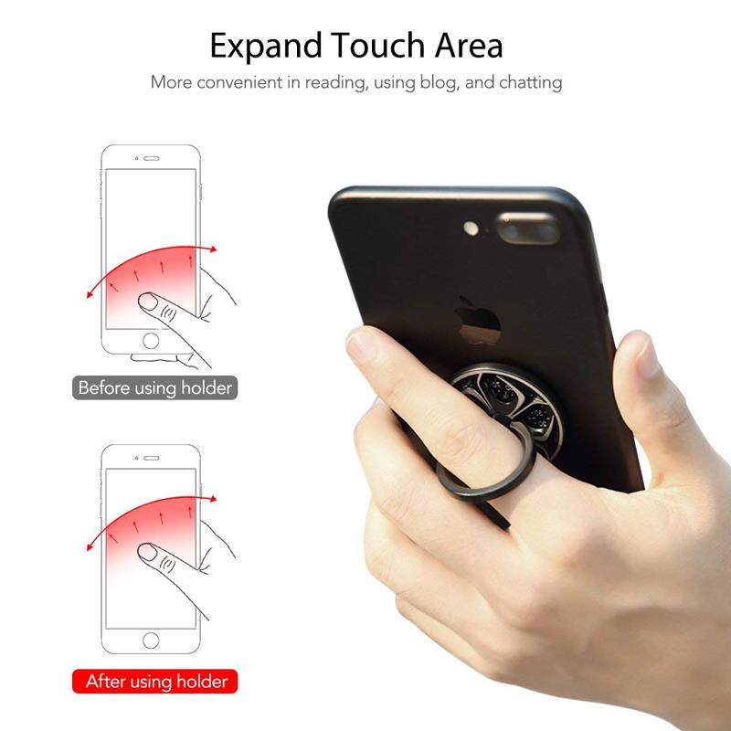 Rock Phone Ring Holder Spinner