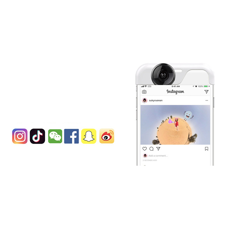 Panoclip Lite 360° Panoramic iPhone Camera Lens