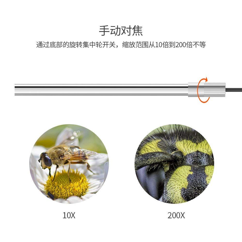 GEECR 顕微鏡 デジタル顕微鏡 高解像度 Micro-USB Type-c USB対応 携帯式顕微鏡 電子拡大鏡 虫眼鏡